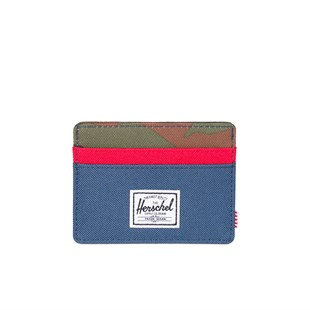 Charlie RFID Woodland Camo/Navy/Red