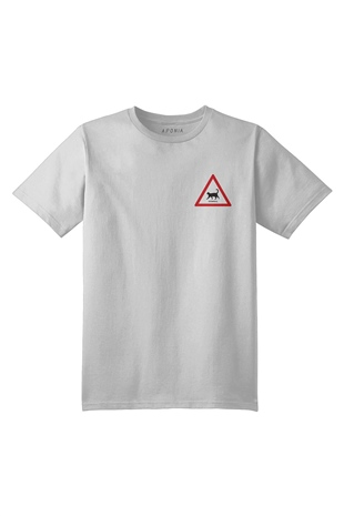 Aponia Cat Traffic  Basic Beyaz T-shirt